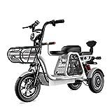 YAUUYA Elektrisches Dreirad E-Scooter Elektro Roller Mit DREI Bequemen Sitzen, Einer Höchstgeschwindigkeit Von 30 Km/H, Einer Ausdauer Von 120 Km, Einer Tragfähigkeit Von 200 Kg